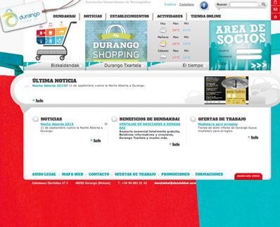 Diseño web asociación comerciantes Durango